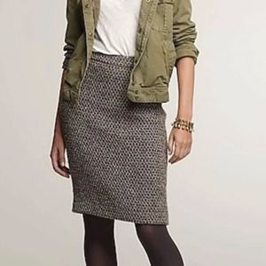 j. crew | brown timber tweed wool pencil skirt 2